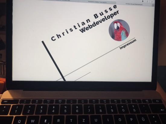 Homepage des Webdevelopers Christian Busse